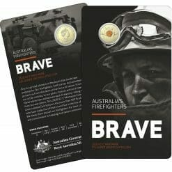 """2020 $2 Firefighters Coin in Card Two Pack - """"C"""" Mintmark & No Mintmark Coins 8"""