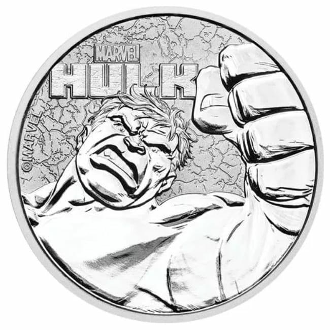 2019 Marvel Series - Hulk - 1oz .9999 Silver Bullion Coin 1