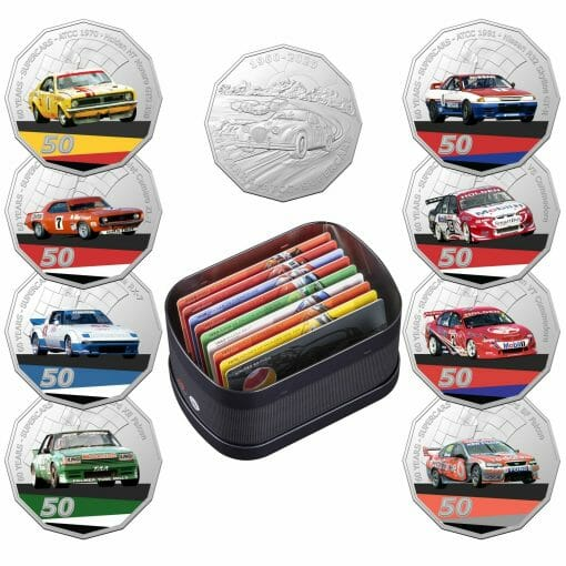 2020 50c Supercars - 60 Years of Touring Car Champions 9 Coin Set 1