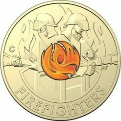 """2020 $2 Firefighters Coin in Card Two Pack - """"C"""" Mintmark & No Mintmark Coins 9"""