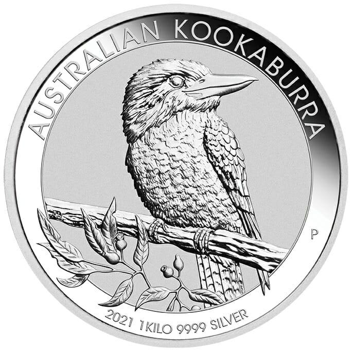 2021 Australian Kookaburra 1kg .9999 Silver Bullion Coin - 1 Kilo 1