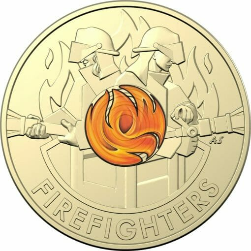 2020 $2 Australia's Firefighters Coloured Coins in Mint Roll - AlBr 2