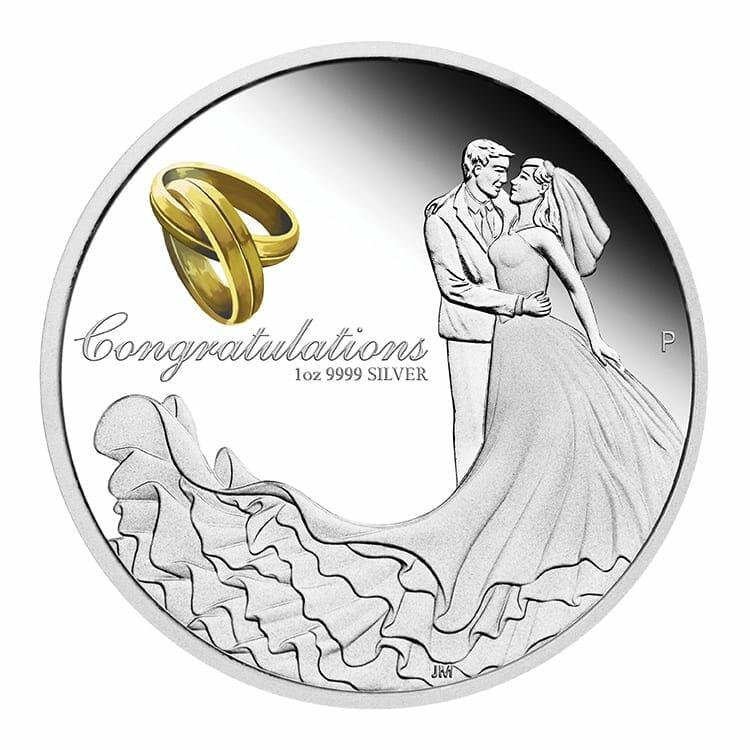2021 Wedding 1oz .9999 Silver Proof Coin 1