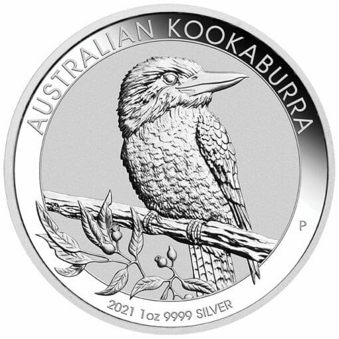 2021 Australian Kookaburra 1oz .9999 Silver Bullion Coin 1