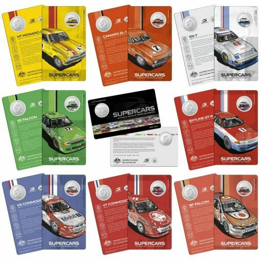 2020 50c Supercars - 60 Years of Touring Car Champions 9 Coin Set 3