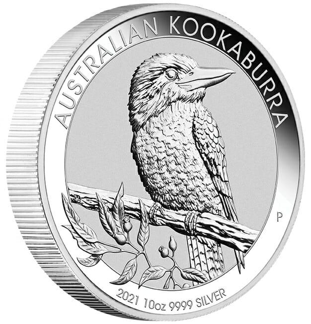 2021 Australian Kookaburra 10oz .9999 Silver Bullion Coin 2