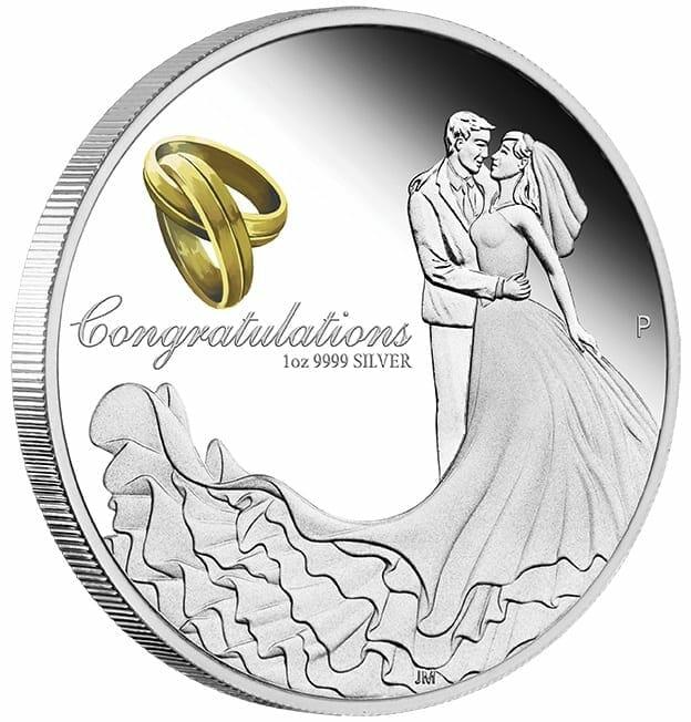 2021 Wedding 1oz .9999 Silver Proof Coin 2