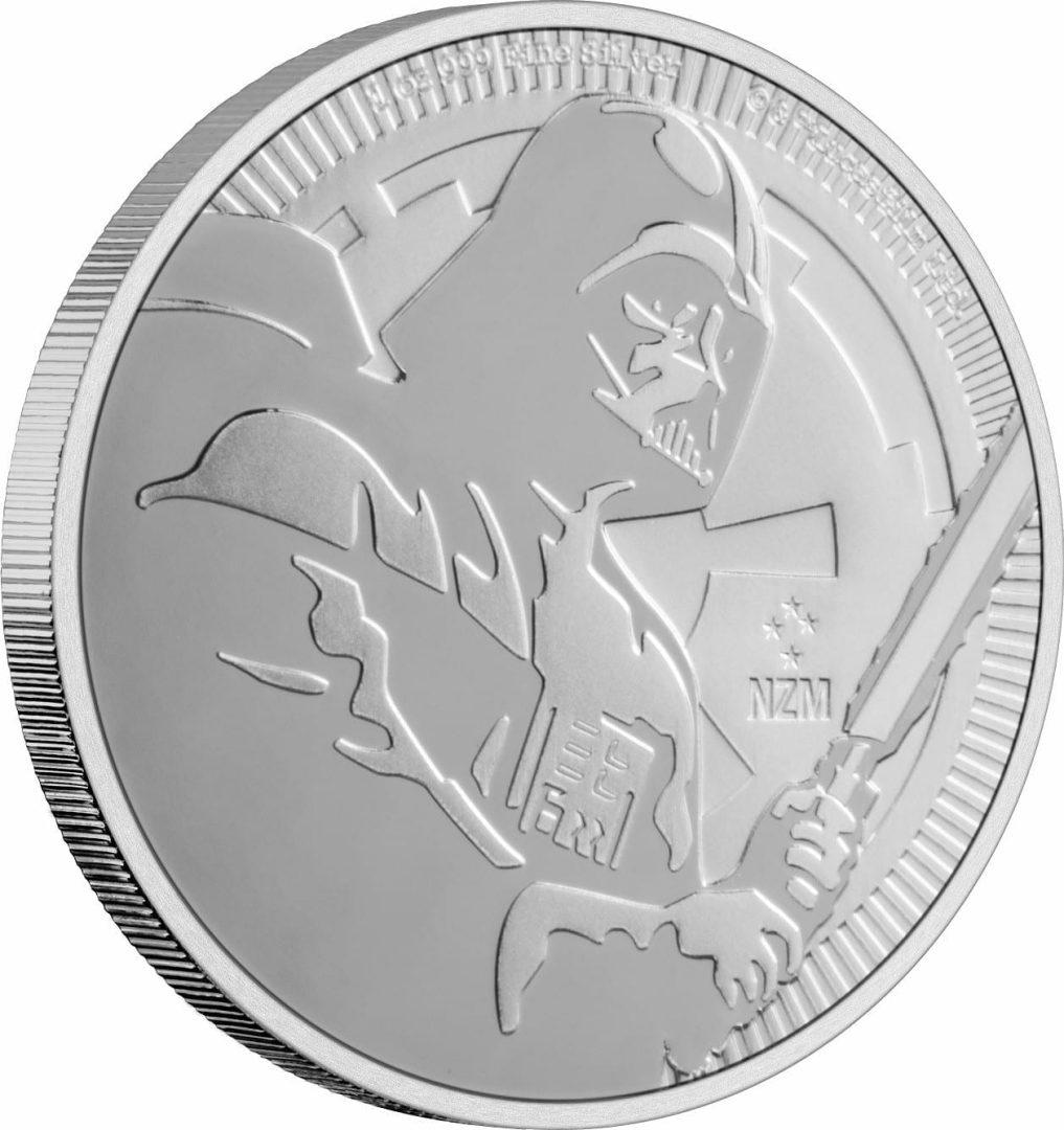 2020 Star Wars - Darth Vader 1oz .999 Silver Bullion Coin 2