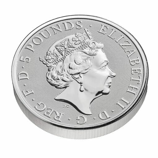 2021 The Queen's Beasts – The White Greyhound of Richmond 2oz .9999 Silver Bullion Coin 3