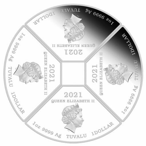 2021 Year of the Ox Quadrant 1oz .9999 Silver Proof Four Coin Set 5