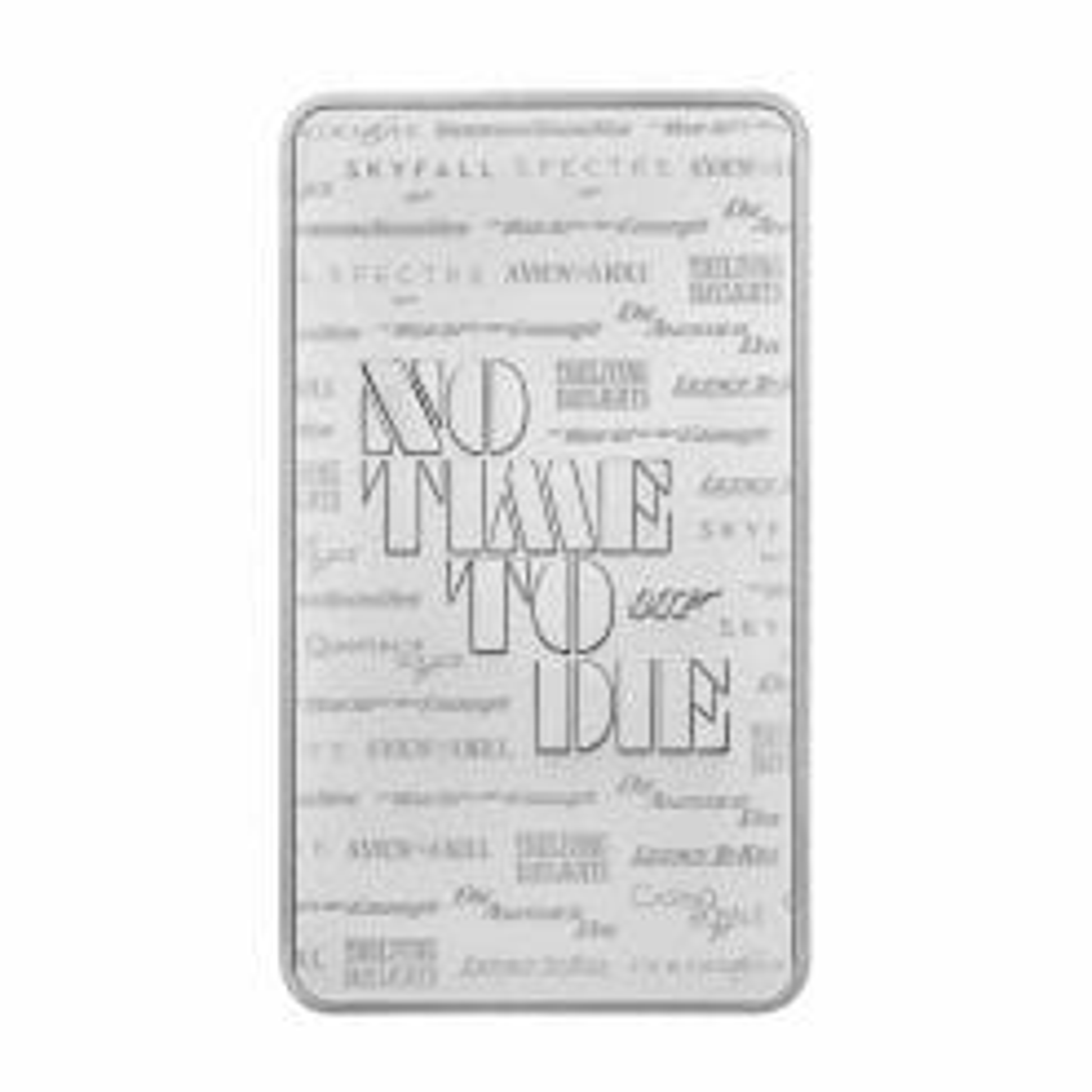2020 007 James Bond - No Time To Die 10oz .9999 Silver Bullion Bar 5
