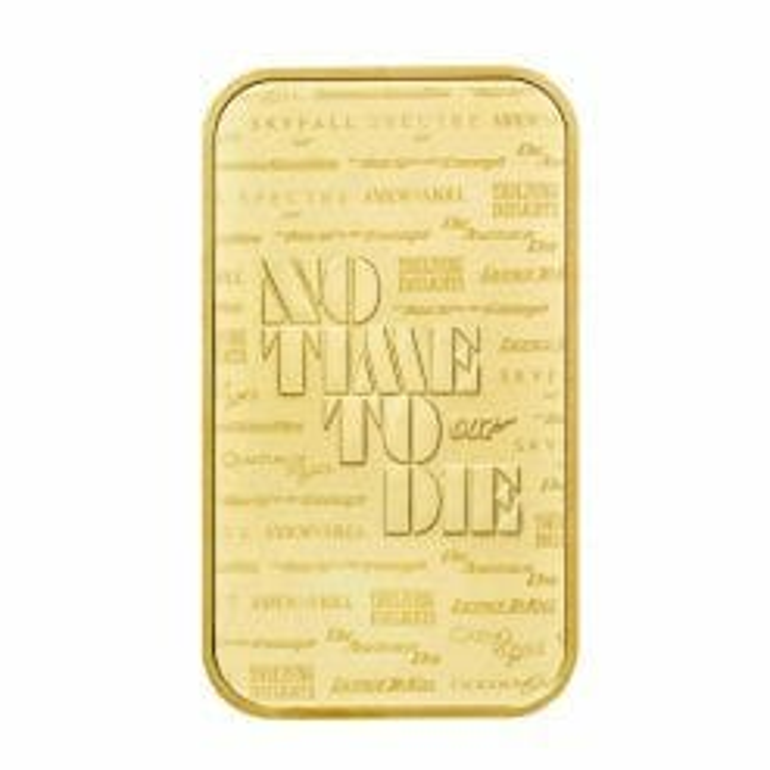 2020 007 James Bond - No Time To Die 1oz .9999 Gold Bullion Bar 7