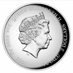 2021 Homer Simpson 2oz .9999 Silver Proof High Relief Coin 8