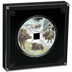 2021 Year of the Ox Quadrant 1oz .9999 Silver Proof Four Coin Set 9