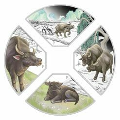 2021 Year of the Ox Quadrant 1oz .9999 Silver Proof Four Coin Set 7