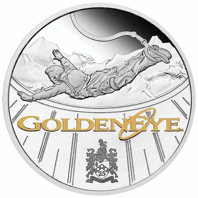 2020 James Bond - GoldenEye 25th Anniversary 1oz .9999 Silver Proof Coin 1