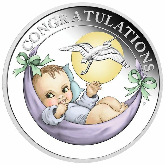 2021 Newborn 1/2oz .9999 Silver Proof Coin 1