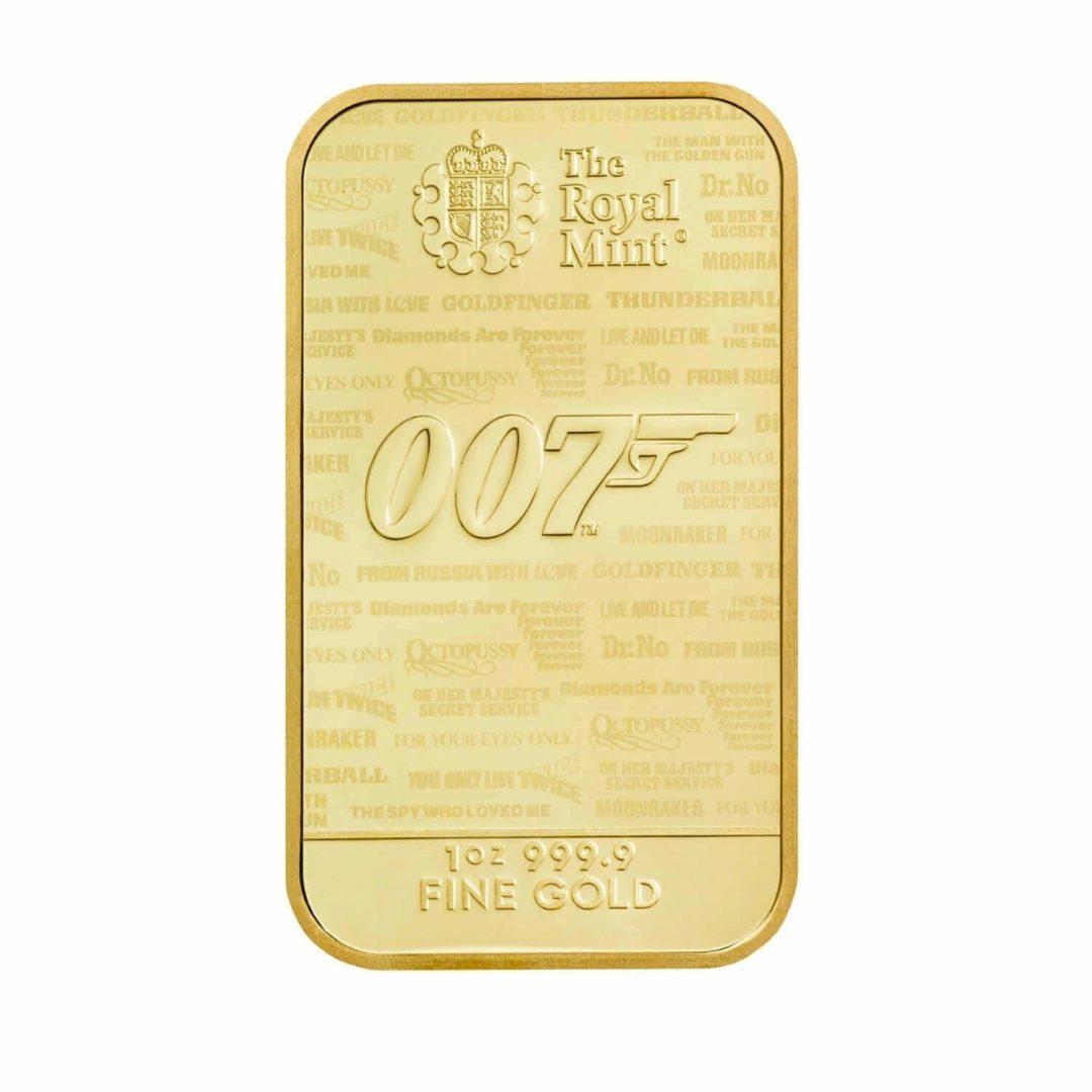 2020 007 James Bond - No Time To Die 1oz .9999 Gold Bullion Bar 6