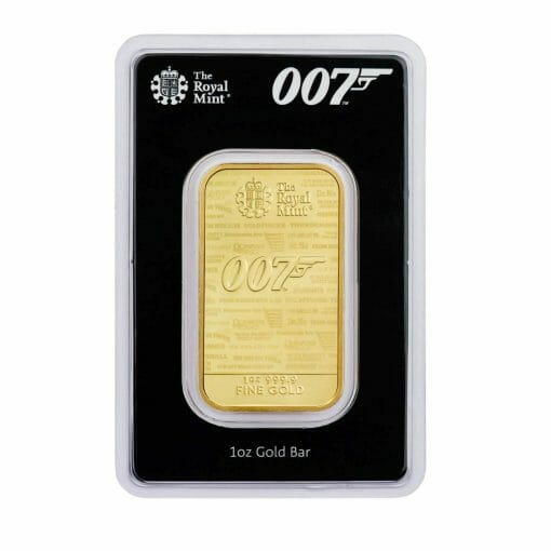 2020 007 James Bond - No Time To Die 1oz .9999 Gold Bullion Bar 1