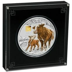 2021 Year of the Ox 1 Kilo Silver Coin with Gold Privy Mark – Lunar Series III 7