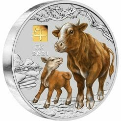 2021 Year of the Ox 1 Kilo Silver Coin with Gold Privy Mark – Lunar Series III 6
