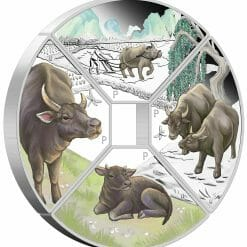 2021 Year of the Ox Quadrant 1oz .9999 Silver Proof Four Coin Set 8