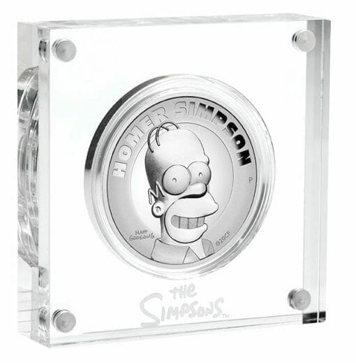 2021 Homer Simpson 2oz .9999 Silver Proof High Relief Coin 3