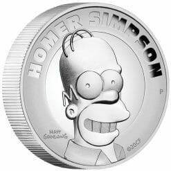 2021 Homer Simpson 2oz .9999 Silver Proof High Relief Coin 6
