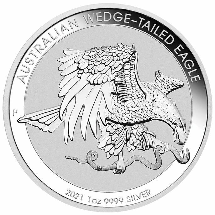 2021 Australian Wedge-Tailed Eagle 1oz .9999 Silver Bullion Coin 1