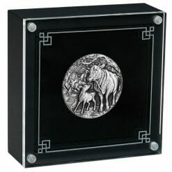 2021 Year of the Ox 2oz .9999 Silver Antiqued Coin - Lunar Series III 8