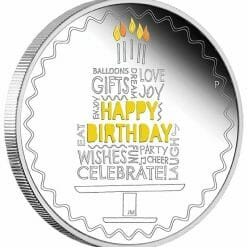2021 Happy Birthday 1oz .9999 Silver Proof Coloured Coin in Card 7