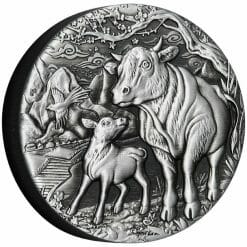2021 Year of the Ox 2oz .9999 Silver Antiqued Coin - Lunar Series III 6
