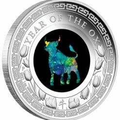 2021 Opal Lunar Series - Year of the Ox 1oz .9999 Silver Proof Coin 6