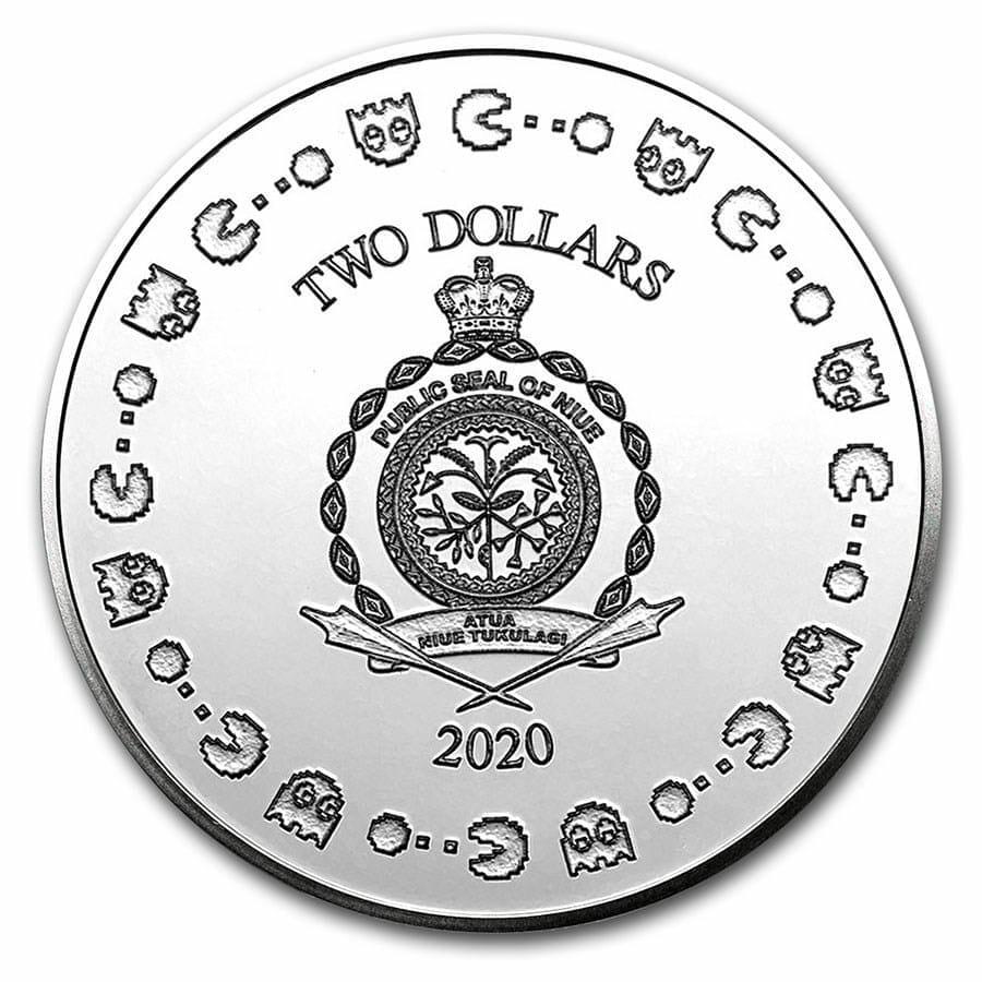 2020 PAC-MAN 40th Anniversary 1oz .999 Silver Bullion Coin 2