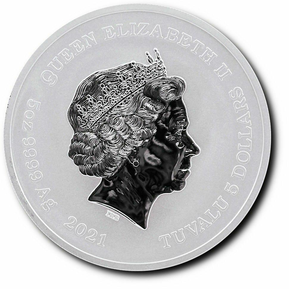 2021 Gods of Olympus - Zeus 5oz .9999 Silver Bullion Coin 2