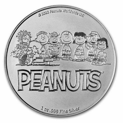 2020 Peanuts 70th Anniversary with Charlie Brown 1oz .999 Silver Bullion Round 2