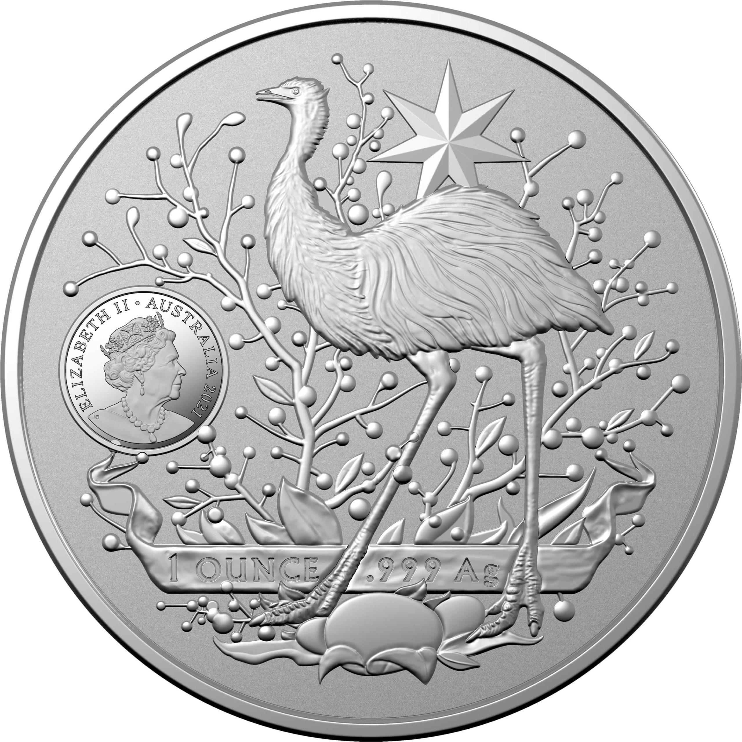 2021 Australia's Coat of Arms 1oz .999 Silver Bullion Coin 2
