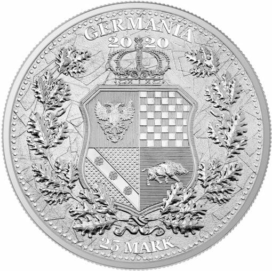 2020 The Allegories - Italia & Germania 5oz .9999 Silver Coin 3