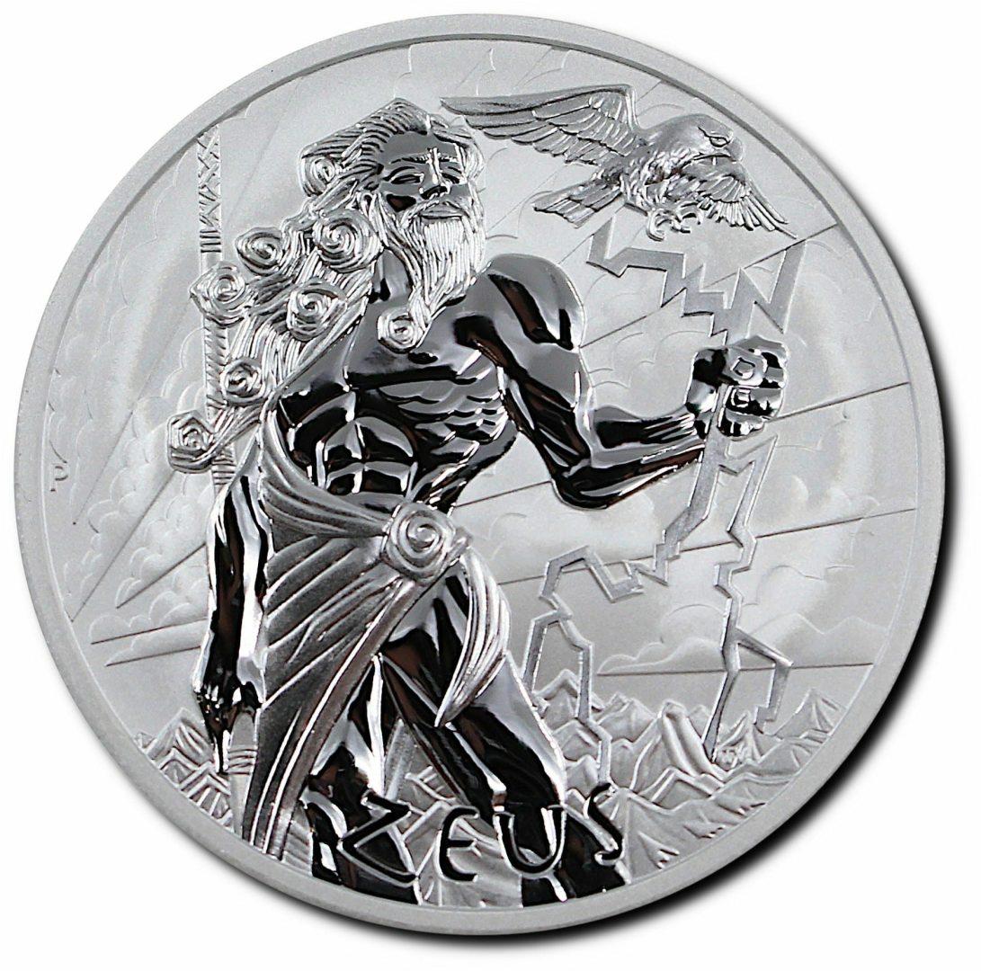 2021 Gods of Olympus - Zeus 5oz .9999 Silver Bullion Coin 1