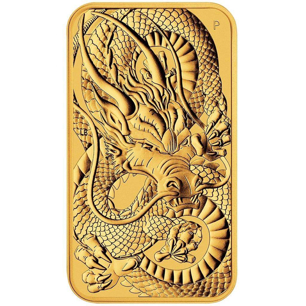 2021 Dragon 1oz .9999 Gold Rectangular Bullion Coin 1