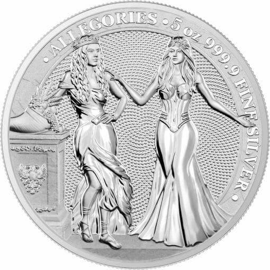 2020 The Allegories - Italia & Germania 5oz .9999 Silver Coin 1