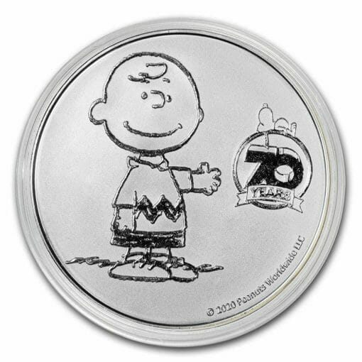 2020 Peanuts 70th Anniversary with Charlie Brown 1oz .999 Silver Bullion Round 3