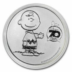 2020 Peanuts 70th Anniversary with Charlie Brown 1oz .999 Silver Bullion Round 7