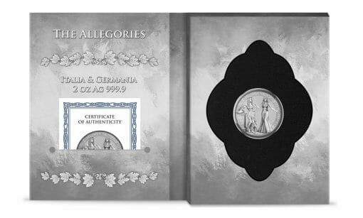 2020 The Allegories - Italia & Germania 2oz .9999 Silver Coin 4
