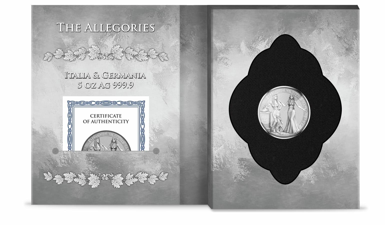 2020 The Allegories - Italia & Germania 5oz .9999 Silver Coin 4