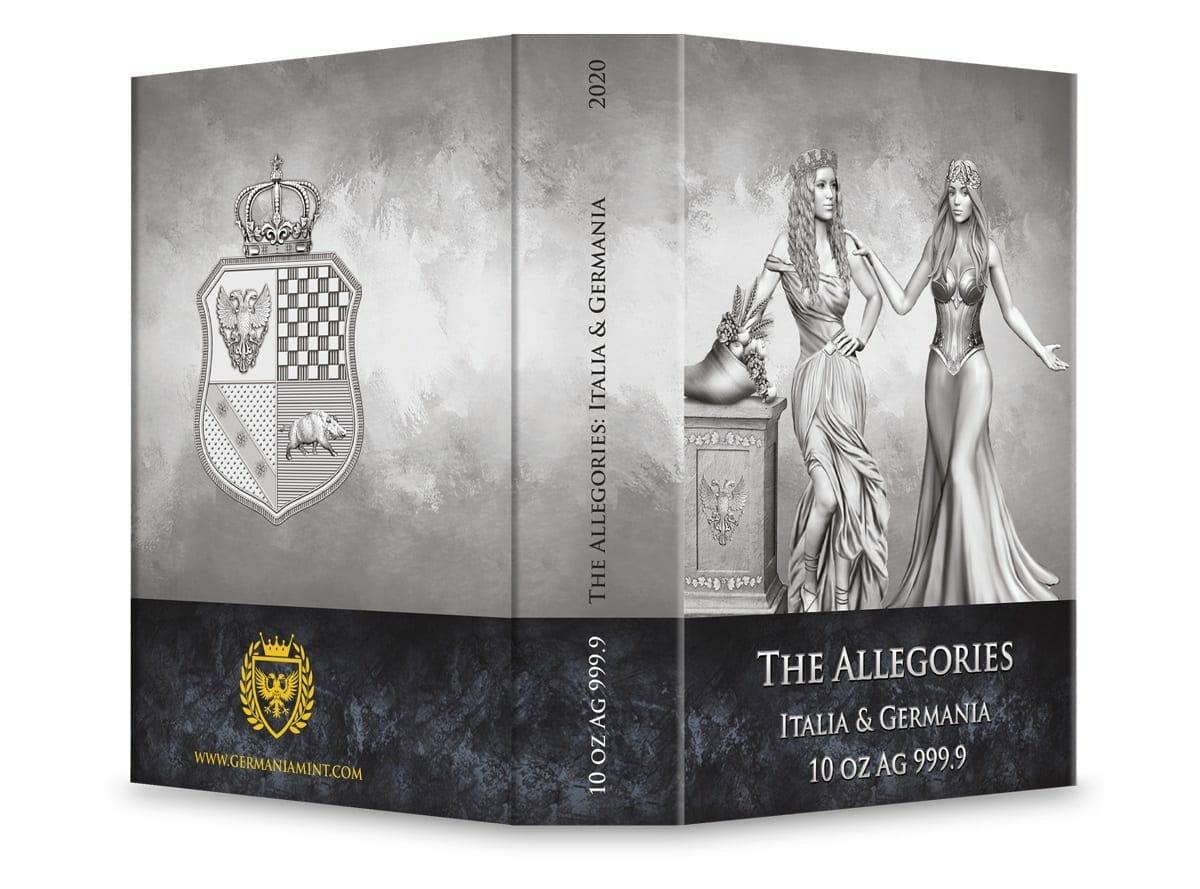 2020 The Allegories - Italia & Germania 10oz .9999 Silver Coin 5