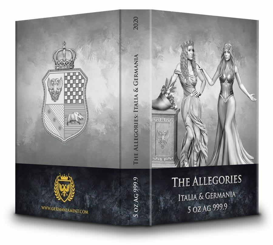 2020 The Allegories - Italia & Germania 5oz .9999 Silver Coin 5