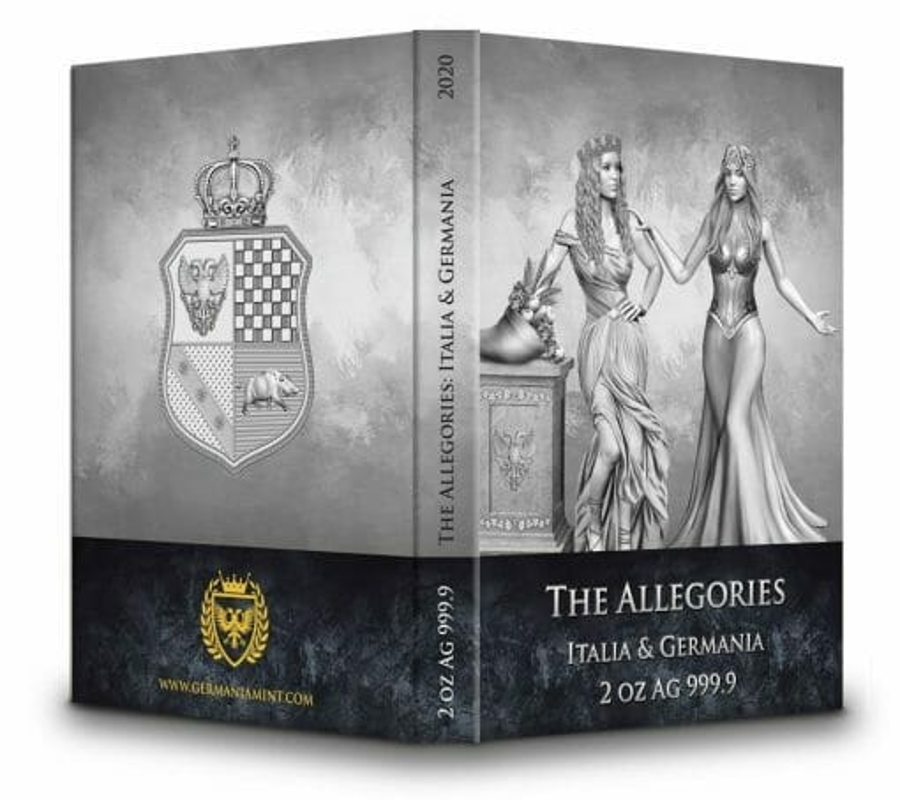 2020 The Allegories - Italia & Germania 2oz .9999 Silver Coin 5