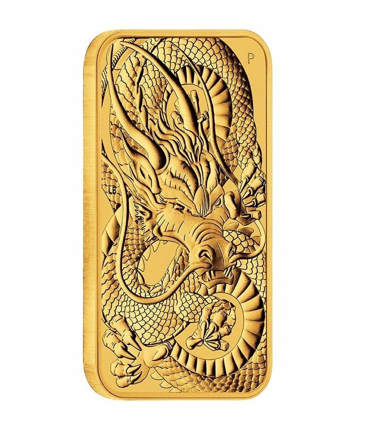 2021 Dragon 1oz .9999 Gold Rectangular Bullion Coin 2