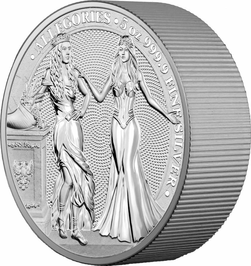 2020 The Allegories - Italia & Germania 5oz .9999 Silver Coin 7